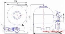 Фильтровальная установка 20 м3/ч Behncke Cristall (D 750)