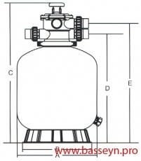 Фильтр песочный 30 м3/ч Emaux Opus (V900)