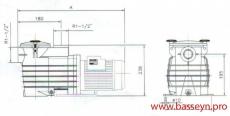 Насос с префильтром 8,5 м3/ч Kripsol Ondina OK-51 0,58 кВт 220В