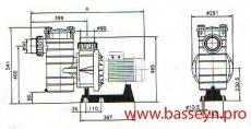 Насос с префильтром 40 м3/ч Kripsol Kapri KAP-250T 2,3 кВт 380В