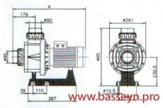 Насос без префильтра 40 м3/ч Kripsol Karpa KA-250T 2,3 кВт 380В