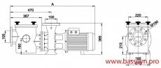 Насос с префильтром 111 м3/ч Kripsol Kripton KRF-560B 4,9 кВт 380В