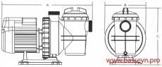 Насос с префильтром 9,3 м3/ч Emaux Opus SS 0,75 кВт 220В (SS100)