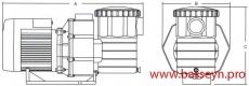 Насос с префильтром 18,5 м3/ч Emaux Opus SB15 1,1 кВт 220В