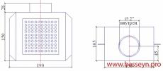 """Слив  донный из нерж. стали (универсал. квадратный) 150х150 - 2"""" В  M.SD.KV"""