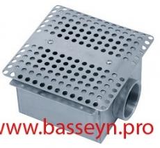 Слив  донный из нерж. стали (универсал. 15м3/ч) Pahlen (125930)