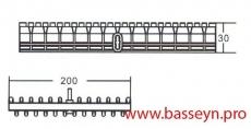 Решетка переливная (Н30 мм 200мм) Emaux DE2620 (Opus)