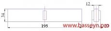 Решетка переливная для круглого бассейна (Н34 мм) Kripsol МС 2034.С new