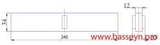 Решетка переливная для круглого бассейна (Н34 мм) Kripsol МС 2534.С new