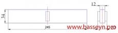Решетка переливная для прямоуг. бассейна (Н34 мм) Kripsol МR 2534.С new