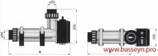 Электронагреватель пласт.корпус (9 кВт) с датчиком потока Pahlen (141602)