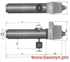 Электронагреватель (12 кВт) с датчиком давления  Pahlen (13261//13982412)