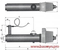 Электронагреватель ( 3 кВт) с датчиком потока Pahlen (132111//13981403)