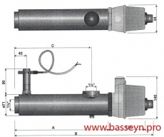 Электронагреватель ( 6 кВт) с датчиком потока Pahlen (132311//13981406)