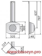 Прожектор навесной  из нерж. стали - угловой (300Вт/12В)  Pahlen (12280)