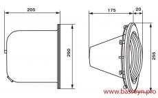 Прожектор из нерж. стали (300Вт/12В) Emaux ULS-300 (Opus)