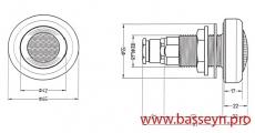 Прожектор для гидромассажных ванн из нерж. стали (50Вт/12В) Pahlen (12265)