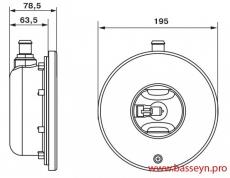 Прожектор из нерж. стали (75Вт/12В) (плитка) Emaux ULH-100 (Opus)