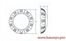 Прожектор (15Вт/12В) c LED- элементами (многоугольн. формы) Emaux LEDTP-100 (Opus)