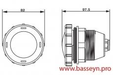 Прожектор для гидромассажных ванн пластиковый (10Вт/12В) c LED- элементами Emaux LEDP-50 (Opus)