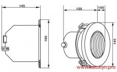 Прожектор из пластика (2Вт/12В) с LED- элементами Emaux LEDS-100PN (Opus)