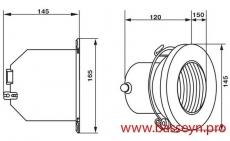 Прожектор из нерж. стали (2Вт/12В) c LED- элементами Emaux LEDS-100SN (Opus)