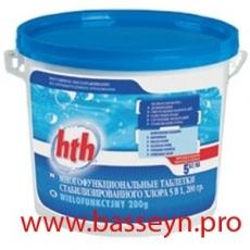 HTH Медленный стабилизированный хлор в таблетках 5 кг.