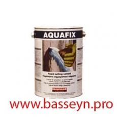 AQUAFIX Быстросхватывающийся гидравлический цемент для моментальной остановки протечек воды 5кг.