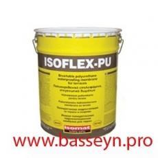ISOFLEX-PU Полиуретановая жидкая гидроизоляционная мембрана 25кг.
