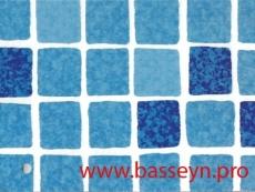 "Пленка ПВХ ""SBG""  SUPRA 150 ""Mosaic blue"" мозаика-синяя  25х1,65м."
