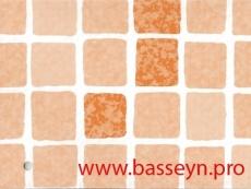 "Пленка ПВХ ""SBG""  SUPRA 150 ""Mosaic terracota"" мозаика-кирпичный  25х1,65м."