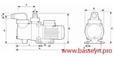 Насос с префильтром  Glong Electric FCP-180S 3,6 м3/ч 220 В