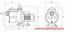 Насос с префильтром Glong Electric FCP-1100S2 16,8 м3/ч 220 В