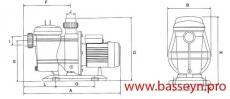 Насос с префильтром Glong Electric FCP-1500S (three) 25,2 м3/ч 380 В
