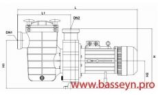 Насос с префильтром Glong Electric FCP-3000A 56,0 м3/ч  380 В