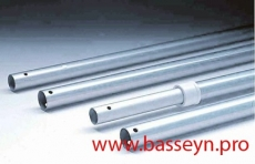 Штанга телескопическая алюминиевая для пылесоса, с ручкой, 3,75-7,5 м IML