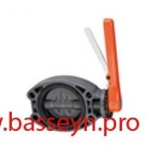 Кран дисковый межфланцевый 125мм