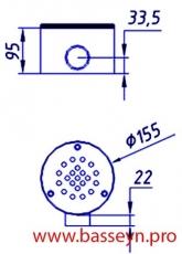 Слив донный (Плитка) AT-04.09