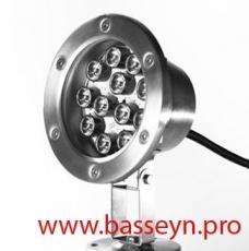 Подводный светильник для фонтана RGB DMX512 12х3 Вт 24В
