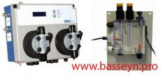 Системы контроля  pH и Свободного хлора со встроенными мембранными насосами Kontrol  Invikta