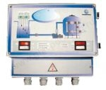 Блок управления доливом для переливного бассейна в комплекте с датчиками